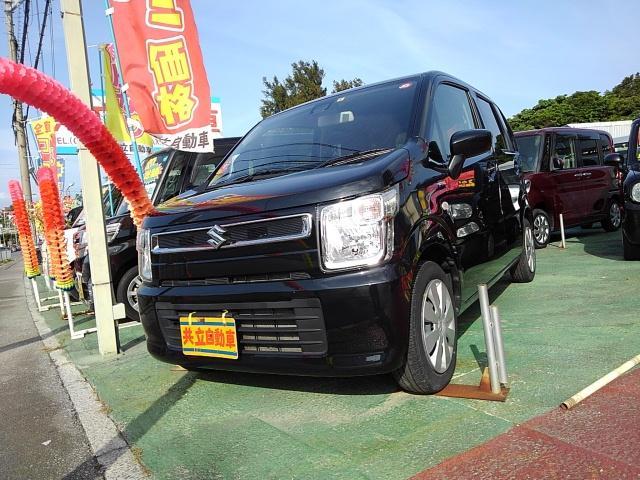 沖縄県の中古車ならワゴンR ハイブリッドFX セーフティーP