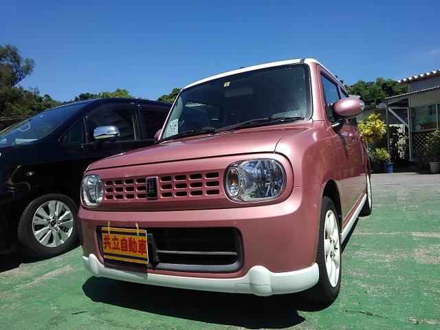 沖縄の中古車 スズキ アルトラパン 車両価格 63万円 リ済込 2013(平成25)年 7.5万km ピンクII