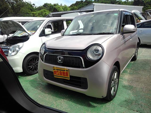 沖縄の中古車 ホンダ N-ONE 車両価格 55万円 リ済込 2013(平成25)年 9.3万km ピンク