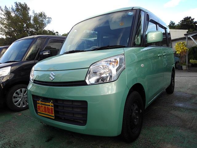 沖縄の中古車 スズキ スペーシア 車両価格 65万円 リ済込 2013(平成25)年 2.0万km LグリーンM