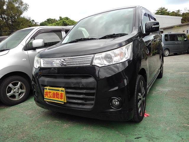 沖縄の中古車 スズキ ワゴンRスティングレー 車両価格 60万円 リ済込 2013(平成25)年 7.4万km ブラック