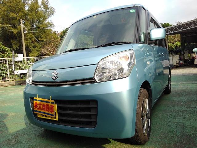 沖縄の中古車 スズキ スペーシア 車両価格 55万円 リ済込 2013(平成25)年 9.7万km ライトブルー