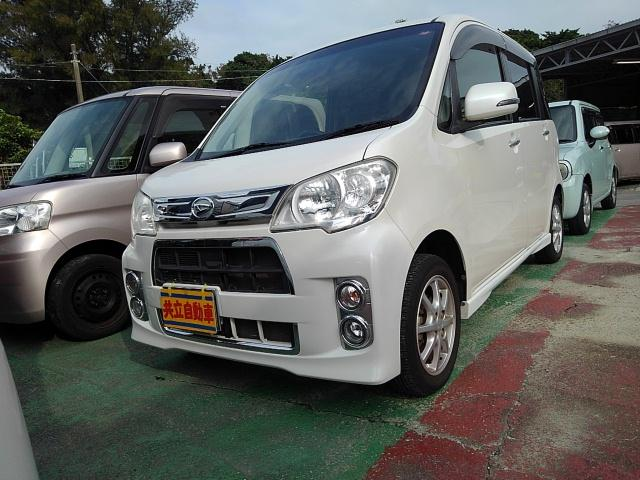 沖縄の中古車 ダイハツ タントエグゼ 車両価格 55万円 リ済込 2012(平成24)年 7.9万km パール