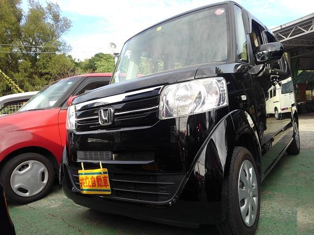 沖縄の中古車 ホンダ N-BOX 車両価格 65万円 リ済込 2016(平成28)年 9.0万km ブラック
