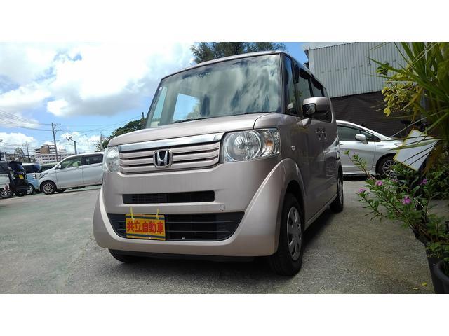 沖縄の中古車 ホンダ N-BOX 車両価格 60万円 リ済込 2012(平成24)年 8.8万km ピンク