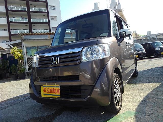 沖縄の中古車 ホンダ N-BOX+ 車両価格 65万円 リ済込 2013(平成25)年 8.9万km ブラウン