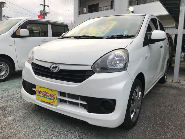 沖縄の中古車 ダイハツ ミライース 車両価格 49万円 リ済込 平成25年 6.8万km ホワイト