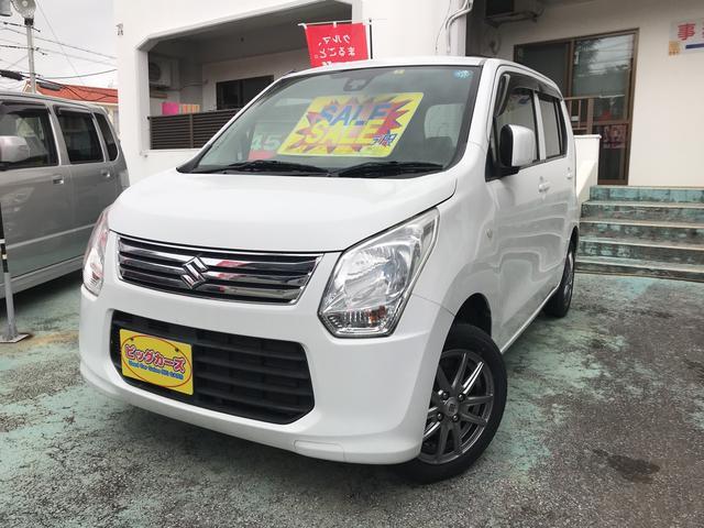 沖縄の中古車 スズキ ワゴンR 車両価格 45万円 リ済込 2014(平成26)年 8.3万km ホワイト