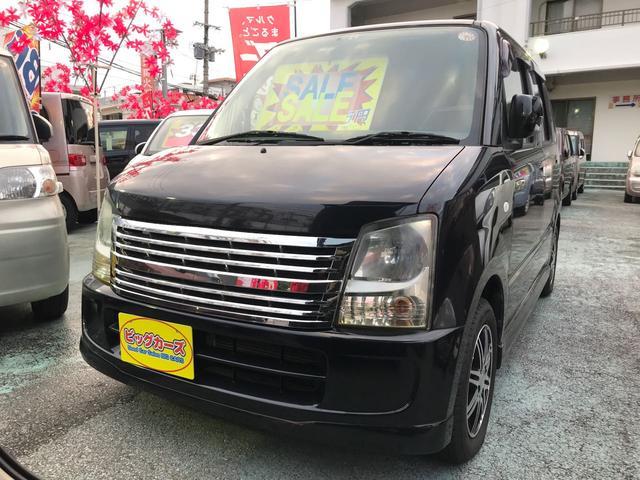沖縄の中古車 スズキ ワゴンR 車両価格 29万円 リ済込 平成20年 7.0万km ブラック