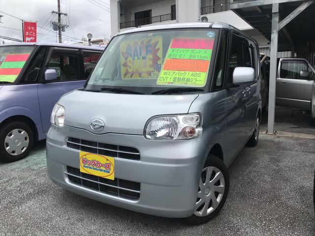 沖縄の中古車 ダイハツ タント 車両価格 45万円 リ済込 2012(平成24)年 6.2万km シルバー