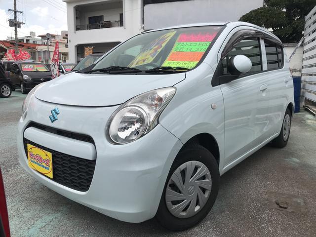 沖縄の中古車 スズキ アルトエコ 車両価格 39万円 リ済込 2013(平成25)年 1.4万km ホワイト