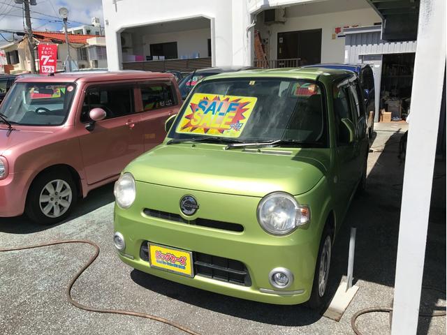 沖縄の中古車 ダイハツ ミラココア 車両価格 45万円 リ済込 2010(平成22)年 2.8万km グリーン