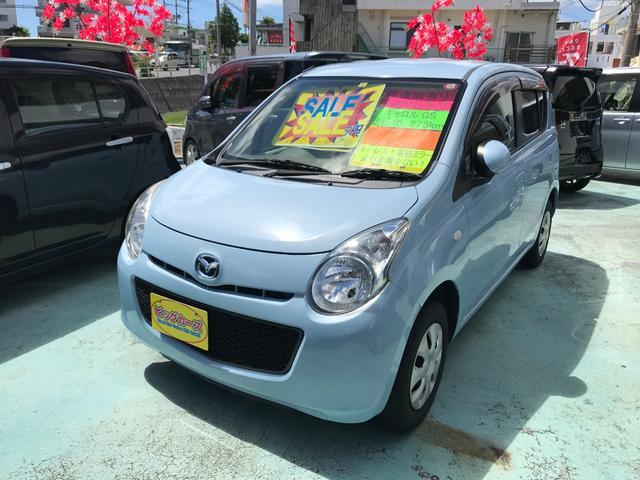 沖縄の中古車 マツダ キャロル 車両価格 29万円 リ済込 2011(平成23)年 4.0万km ライトブルー