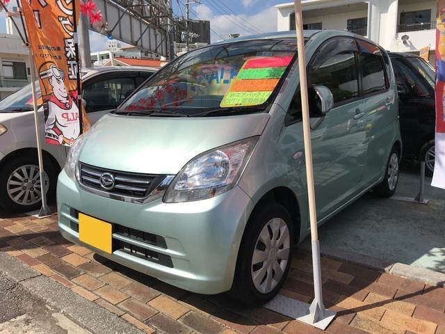 沖縄県沖縄市の中古車ならムーヴ X スマートキー フルフラット CD ベンチシート