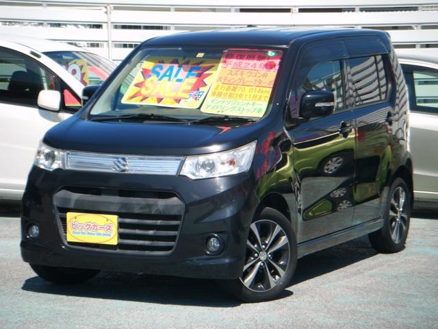 沖縄の中古車 スズキ ワゴンRスティングレー 車両価格 69万円 リ済込 2012(平成24)年 7.0万km ブラック