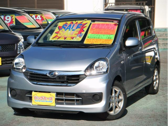 沖縄の中古車 ダイハツ ミライース 車両価格 49万円 リ済込 2015(平成27)年 6.9万km シルバー