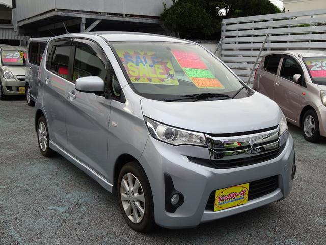 沖縄の中古車 三菱 eKカスタム 車両価格 59万円 リ済込 2013(平成25)年 6.3万km シルバー