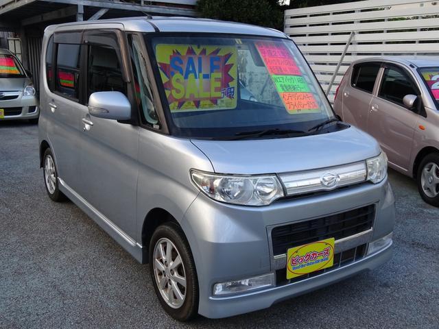 沖縄県沖縄市の中古車ならタント カスタムX ディスチャージライト・Wエアバック・ABS・キーレス・インテリジェントキー・スライドドア・電動格納ミラー