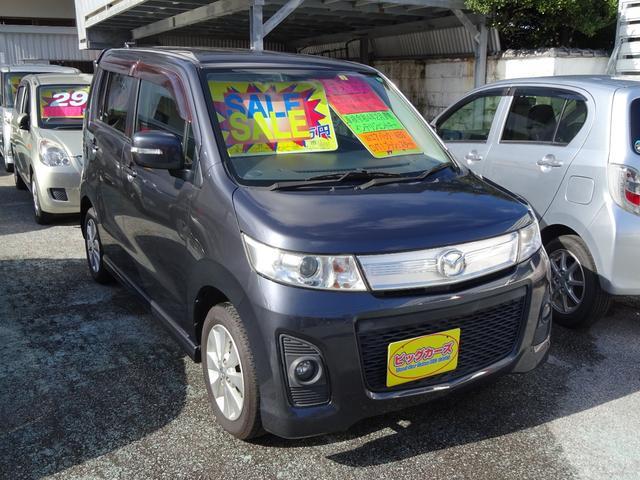 沖縄県沖縄市の中古車ならAZワゴンカスタムスタイル XT-L ターボ車・インテリキー・ディスチャージライト・Wエアバック・ABS・CVT・フォグランプ・