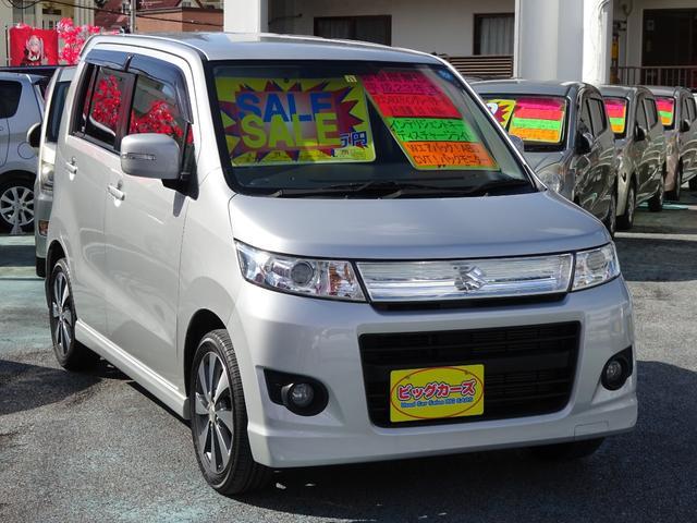 沖縄の中古車 スズキ ワゴンRスティングレー 車両価格 65万円 リ済込 2011(平成23)年 5.3万km シルバー