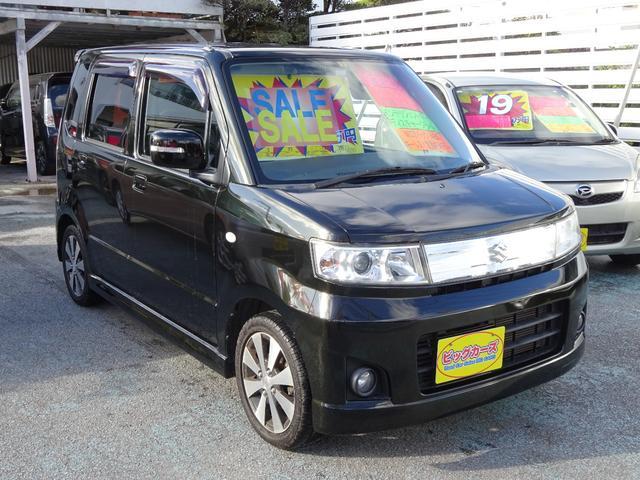 沖縄県沖縄市の中古車ならワゴンR スティングレーT ターボ車・インテリジェントキー・ディスチャージライト・Wエアバック・ABS・キーレス・フォグランプ・プライバシーガラス・リアスポイラー・純正アルミホイール・