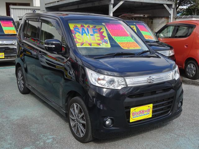 沖縄の中古車 スズキ ワゴンRスティングレー 車両価格 65万円 リ済込 2012(平成24)年 6.1万km ブラック