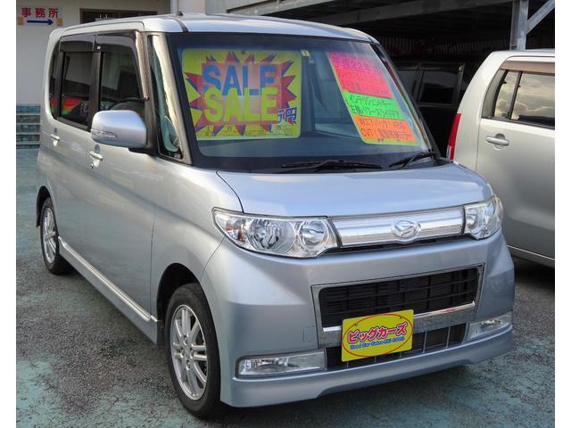 沖縄県の中古車ならタント カスタムXリミテッド インテリジェントキー・プッシュスタート・パワースライドドア・ディスチャージライト・Wエアバック・ABS・CVT・電動格納ミラー・プライバシーガラス・