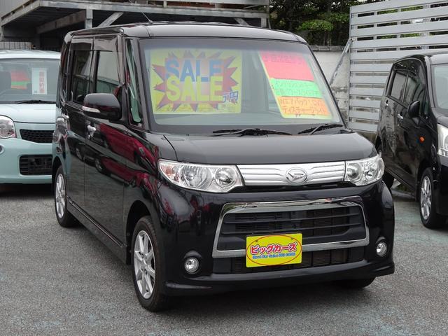 沖縄県の中古車ならタント カスタムX インテリジェントキー・プッシュスタート・Wエアバック・ABS・CVT・電動格納ミラー・パワースライドドア・プライバシーガラス・ディスチャージライト・アルミホイール