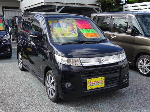 沖縄の中古車 スズキ ワゴンRスティングレー 車両価格 55万円 リ済込 2010(平成22)年 7.6万km ブラック
