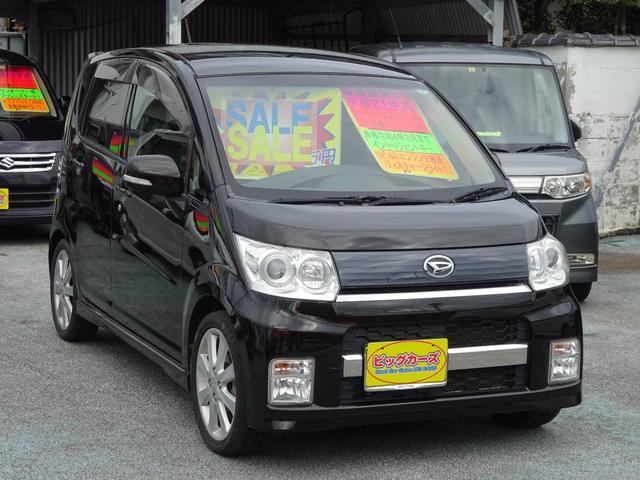 沖縄の中古車 ダイハツ ムーヴ 車両価格 49万円 リ済込 2009(平成21)年 4.9万km ブラック