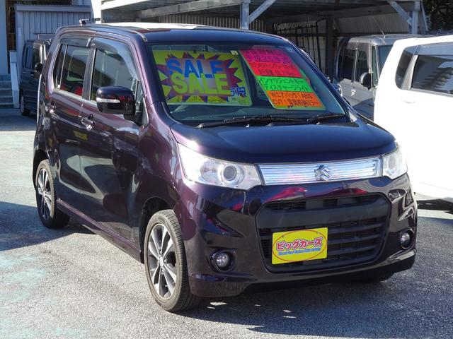 沖縄の中古車 スズキ ワゴンRスティングレー 車両価格 69万円 リ済込 2013(平成25)年 6.8万km ダークパープル