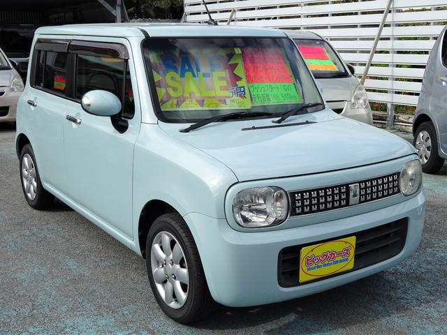 沖縄の中古車 スズキ アルトラパン 車両価格 39万円 リ済込 2012(平成24)年 17.1万km ライトブルー