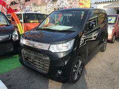 沖縄の中古車 スズキ ワゴンRスティングレー 車両価格 71万円 リ済込 平成25年 7.9万K ブラック