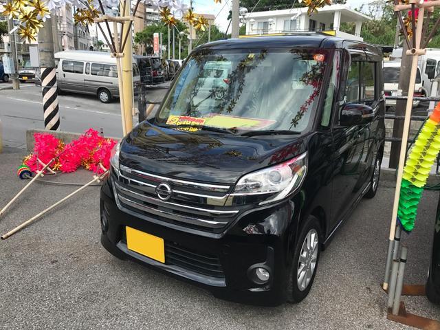 沖縄の中古車 日産 デイズルークス 車両価格 87万円 リ済込 平成26年 5.9万km ブラック