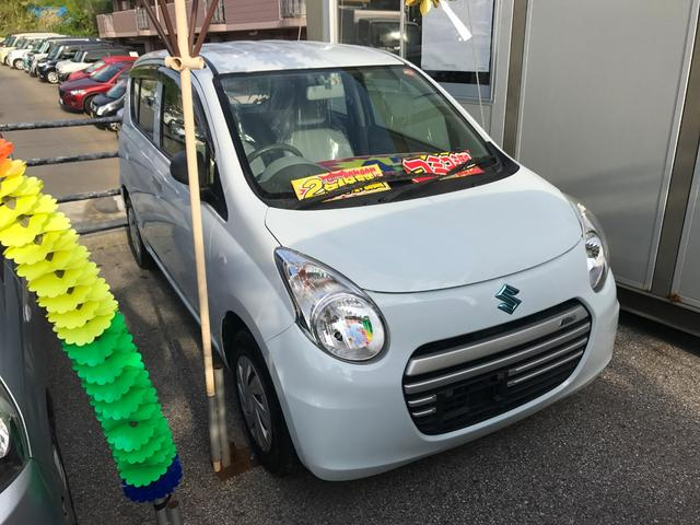 沖縄の中古車 スズキ アルトエコ 車両価格 37万円 リ済込 平成25年 7.9万km リーフホワイト