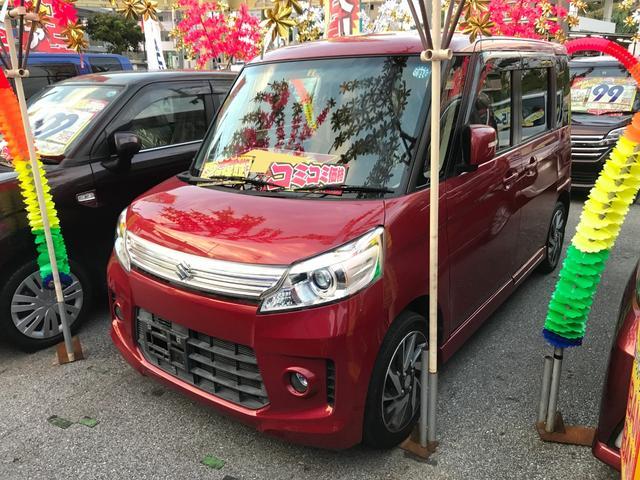 沖縄の中古車 スズキ スペーシアカスタム 車両価格 91万円 リ済込 平成25年 5.1万km レッド