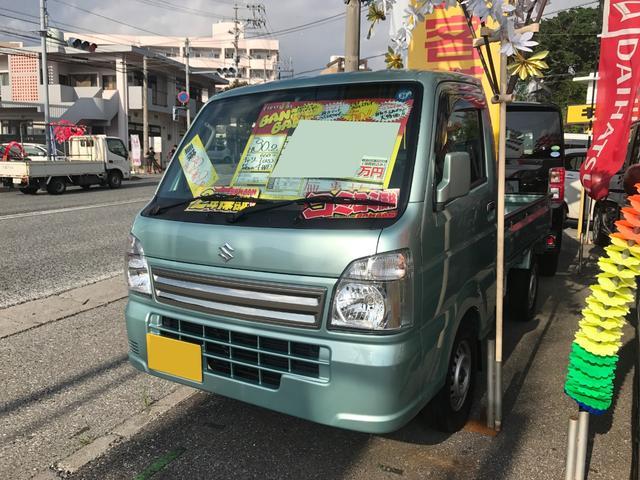 沖縄の中古車 スズキ キャリイトラック 車両価格 82万円 リ済込 平成30年 0.2万km Lグリーン