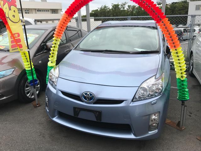 沖縄の中古車 トヨタ プリウス 車両価格 74万円 リ済込 平成23年 7.8万km ブルー