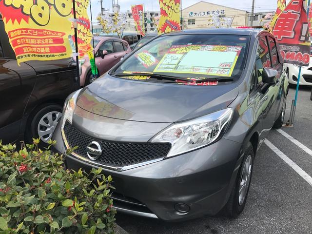 沖縄の中古車 日産 ノート 車両価格 65万円 リ済込 平成28年 6.8万km グレー