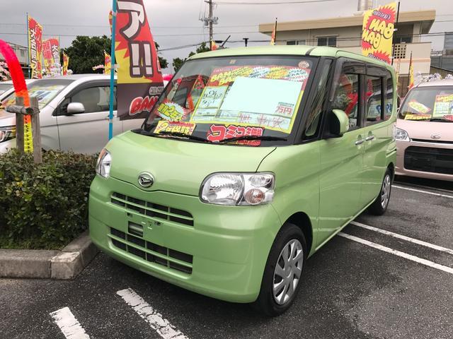 沖縄の中古車 ダイハツ タント 車両価格 51万円 リ済込 平成24年 8.2万km Lグリーン