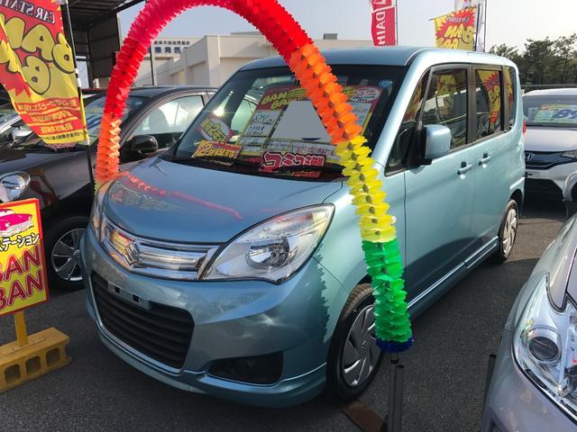 沖縄の中古車 スズキ ソリオ 車両価格 61万円 リ済込 平成27年 5.0万km ライトブルー