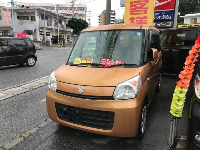 沖縄の中古車 スズキ スペーシア 車両価格 61万円 リ済込 2013(平成25)年 7.2万km オレンジ