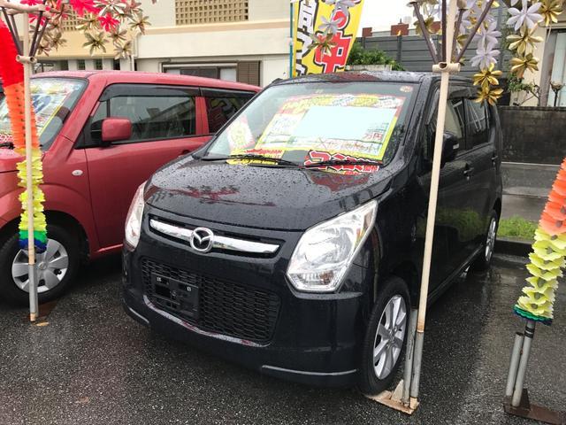 沖縄の中古車 マツダ フレア 車両価格 51万円 リ済込 2013(平成25)年 6.2万km ブルーイッシュブラックパール3