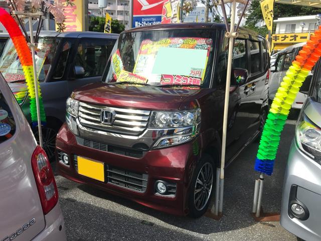 沖縄県の中古車ならN-BOXカスタム G ターボSSパッケージ フルセグ8インチナビ