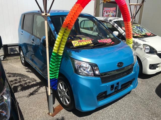 沖縄の中古車 スバル ステラ 車両価格 41万円 リ済込 2014(平成26)年 8.5万km ライトブルー
