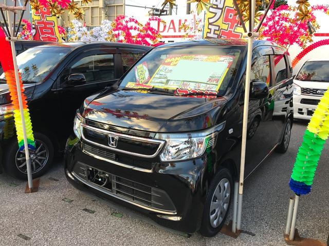 沖縄の中古車 ホンダ N-WGN 車両価格 56万円 リ済込 2014(平成26)年 7.9万km ブラック