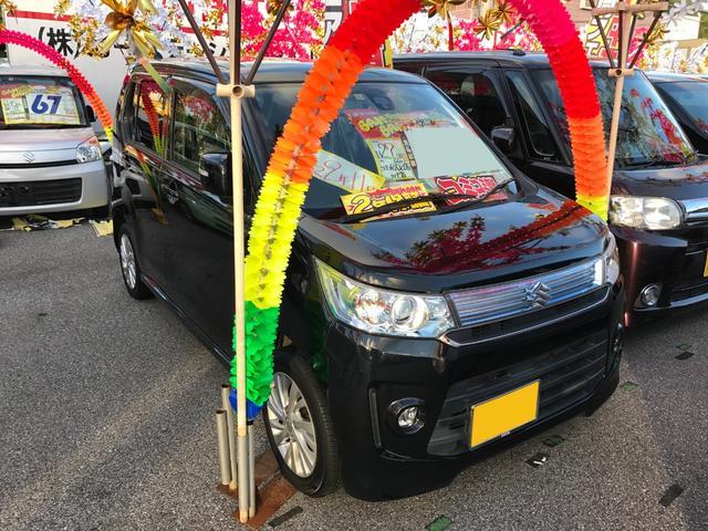 沖縄の中古車 スズキ ワゴンRスティングレー 車両価格 53万円 リ済込 2015(平成27)年 8.2万km ブラック