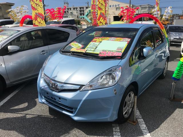沖縄の中古車 ホンダ フィットハイブリッド 車両価格 44万円 リ済込 2012(平成24)年 8.7万km ライトブルー