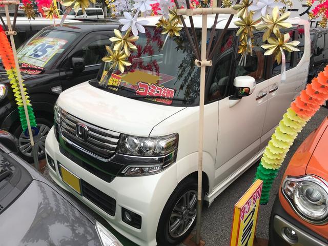 沖縄県の中古車ならN-BOXカスタム G・Lパッケージ アイドリングストップ