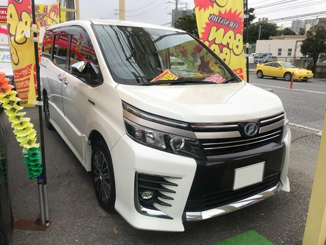 沖縄県の中古車ならヴォクシー ハイブリッドZS 煌